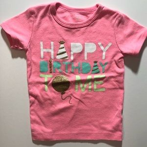 FREE! 3T Girl Carters Birthday Shirt Neon Sparkle
